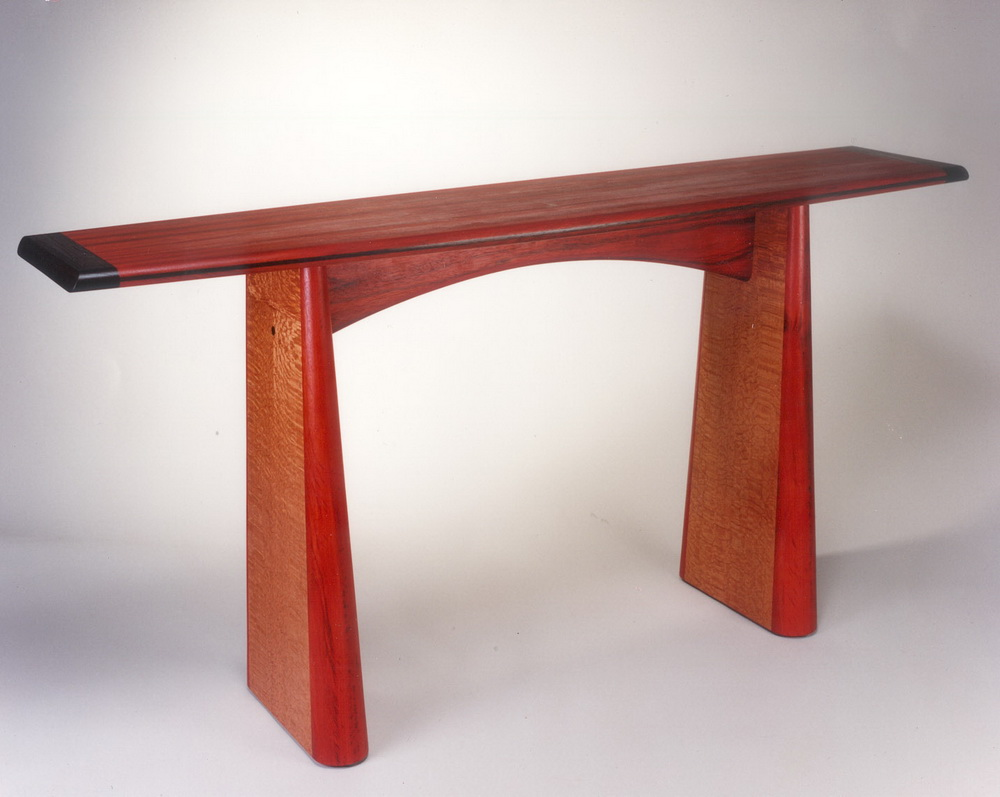 Console entry tables roger combs woodworker for Table table table