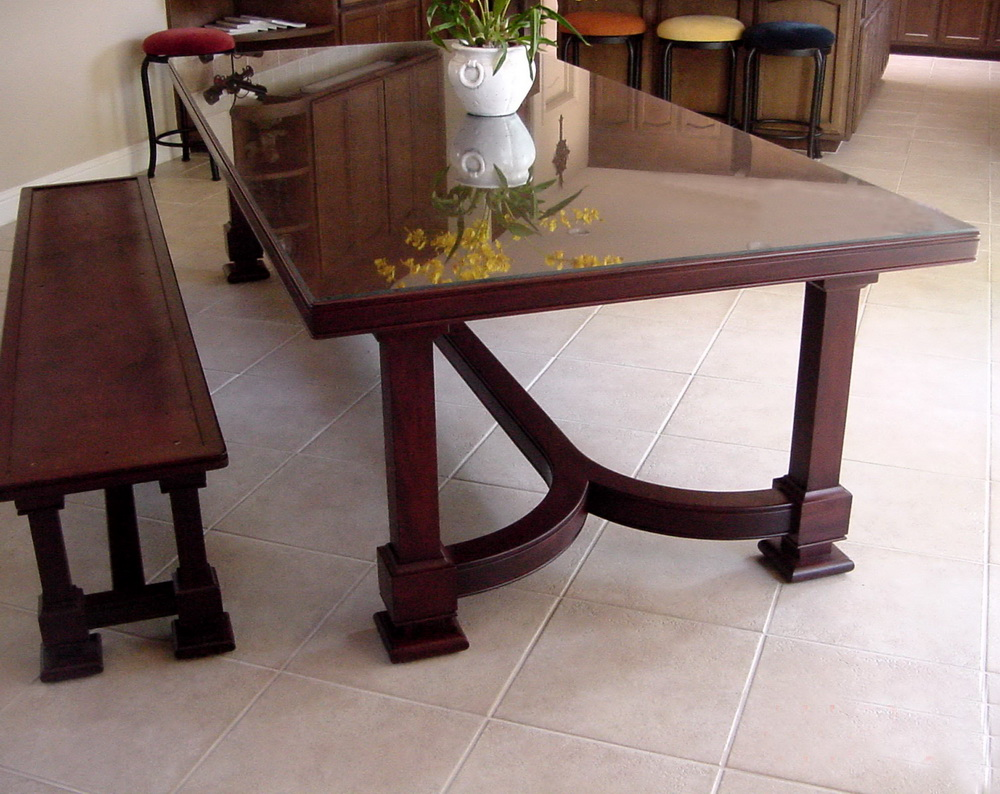 Dining Table and Bench by Roger Combs