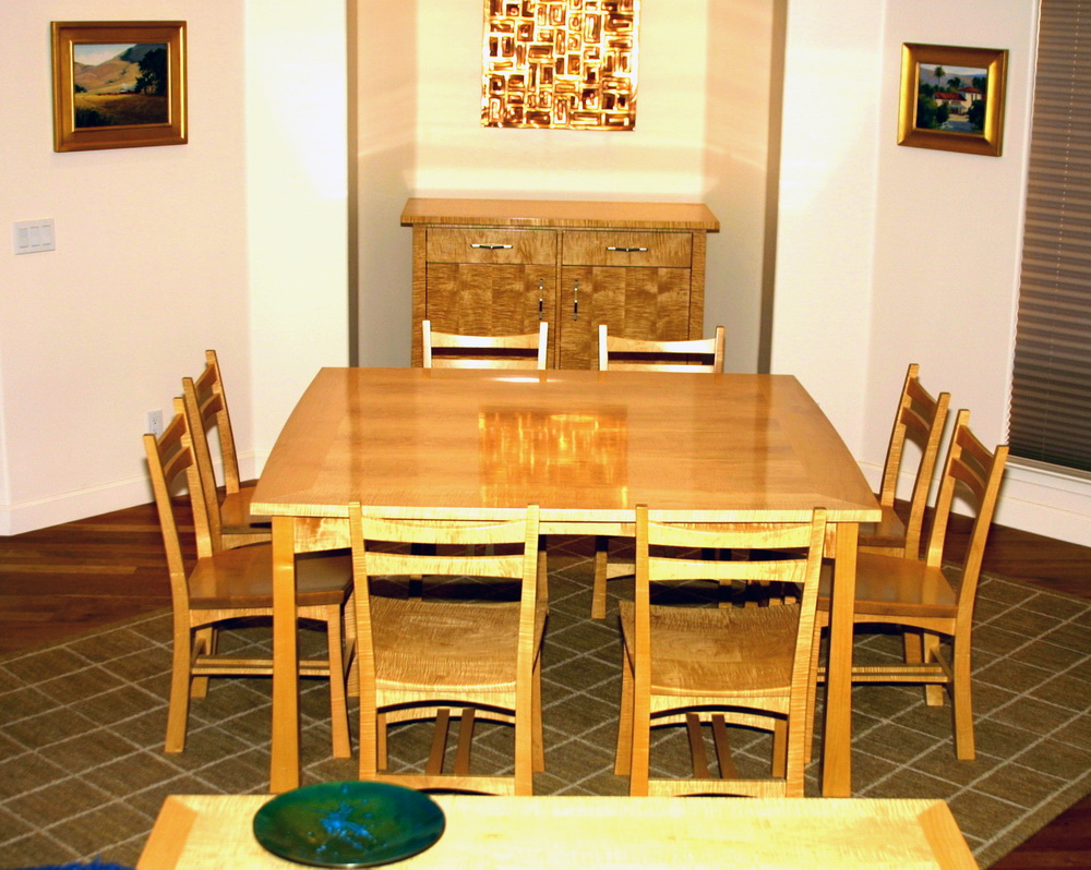 Dining Table and Chairs by Roger Combs