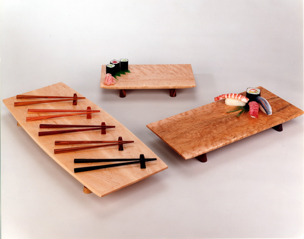 Sushi Display Trays by Roger Combs